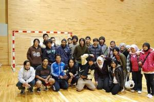 Team picture of Nagaoka with trophy!